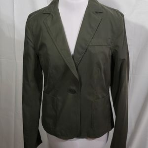 NWT Kenneth Cole Olive Cotton Blazer Size 6
